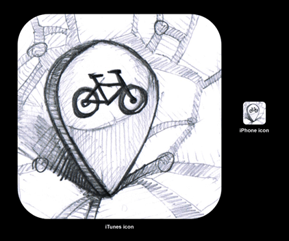 icon early stage sketch