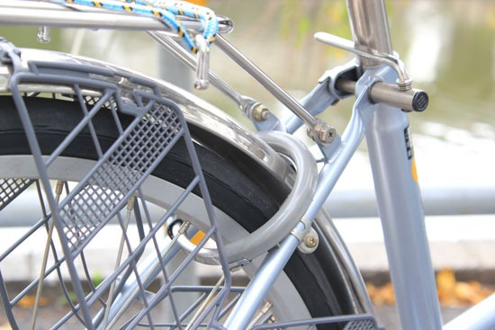 Picture of a bike with an attached lock