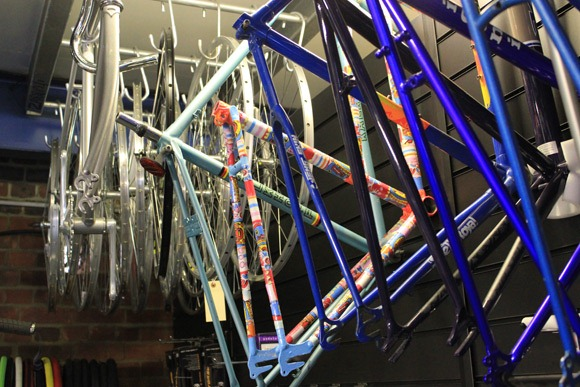 Cloud 9 cycles frames on display