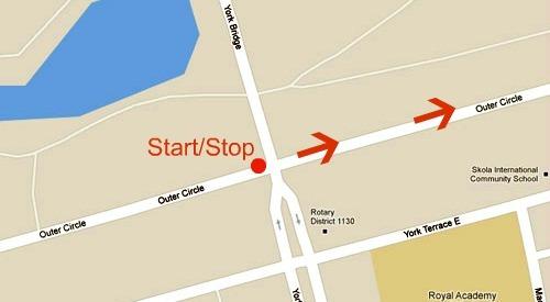 Regents park start stop position explanation