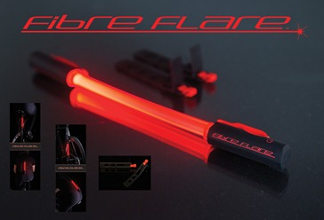 Fibre flare bike light product shot