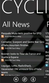 Cycling news app windows mobile