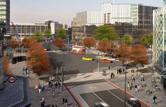 Euston Circus after 11m makeover