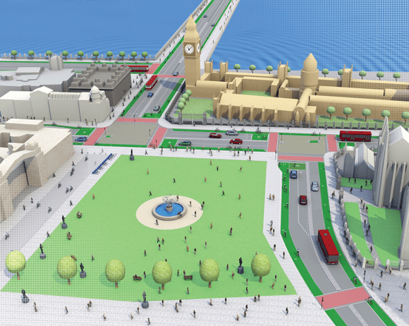 LCC redesign of Parliament Square