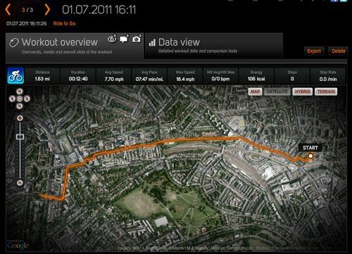 Sports Tracker online view