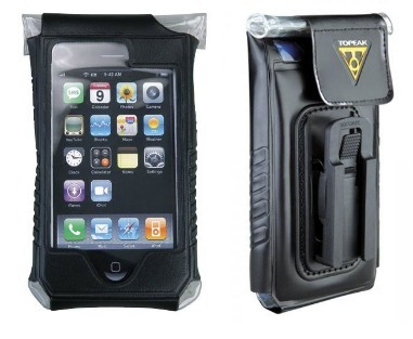 A product shot showing the front and back of the Topeak iPhone bike mount