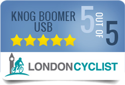 Showing that we gave the Knog Boomer USB five stars