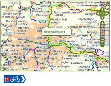 Cycling across London on the National Cycle Network