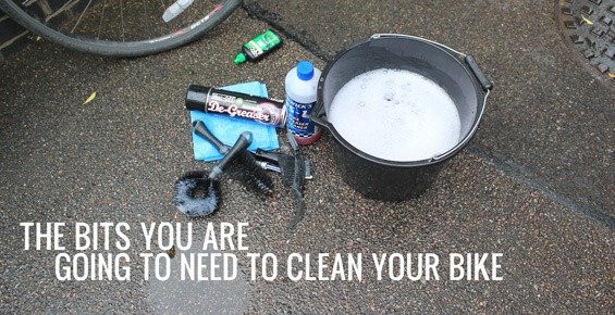 The bits you are going to need to clean your bike
