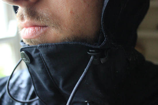 DHB Sync Waterproof Jacket close up of neck