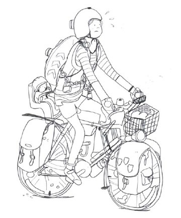 London Cyclist Handbook Preview Cyclist With Lots of Gear
