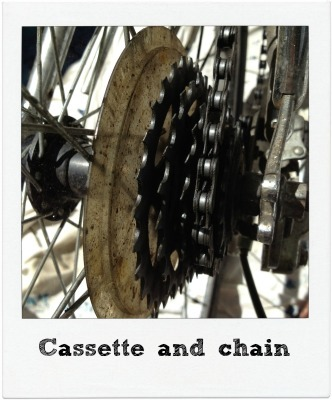 Cassette and chain