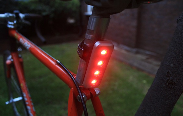 Knog blinder with the light on