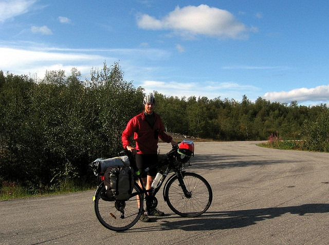 Touring cyclist