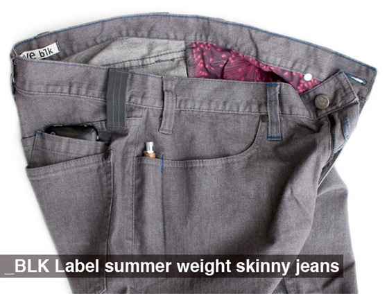 Swrve summer jeans side view from manufacturer
