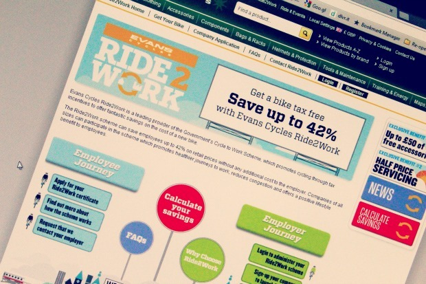 Ride 2 work screen grab