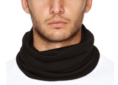 Man wearing a buff