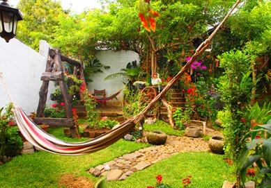 Taking it easy on a hammock in juayua