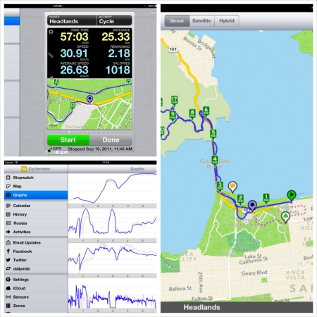 Cyclemeter iPad app