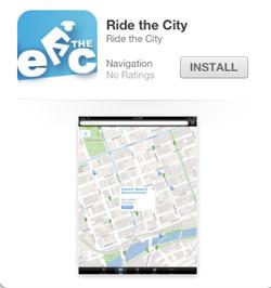 Ride the City iPad app for bikes