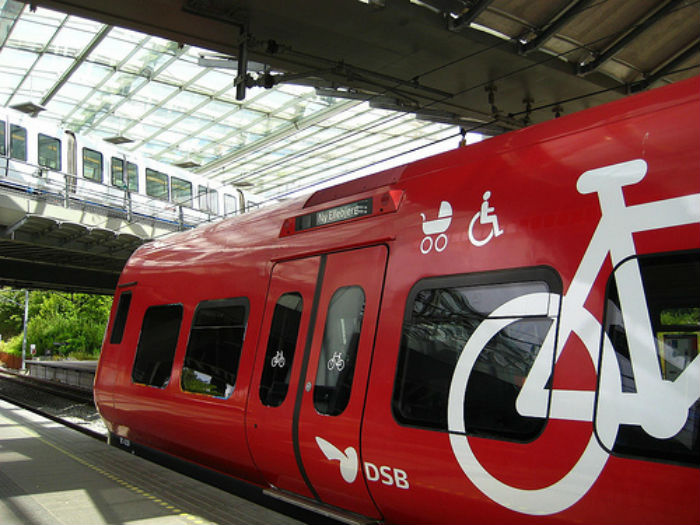 It's easy to know where to put your bike on Danish trains - image from Facelessbook blog