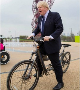 Boris on a tandem bike