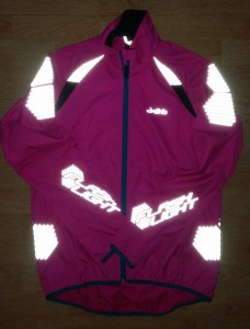 Flashlight jacket reflective