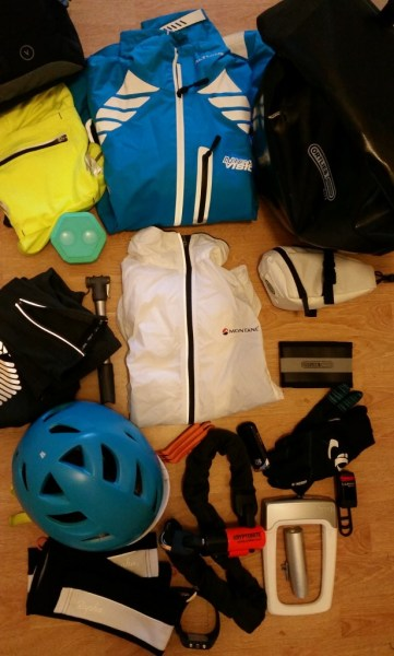Lots of cycling gear