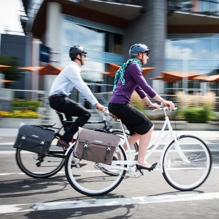 Ortlieb Commuter bag on bike