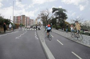 Kingston planned cycle lane
