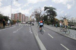 Kingston planned cycle lane