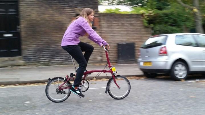 Jacket on a bike
