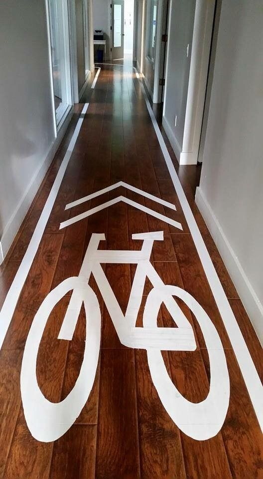 Hallway cycle lane