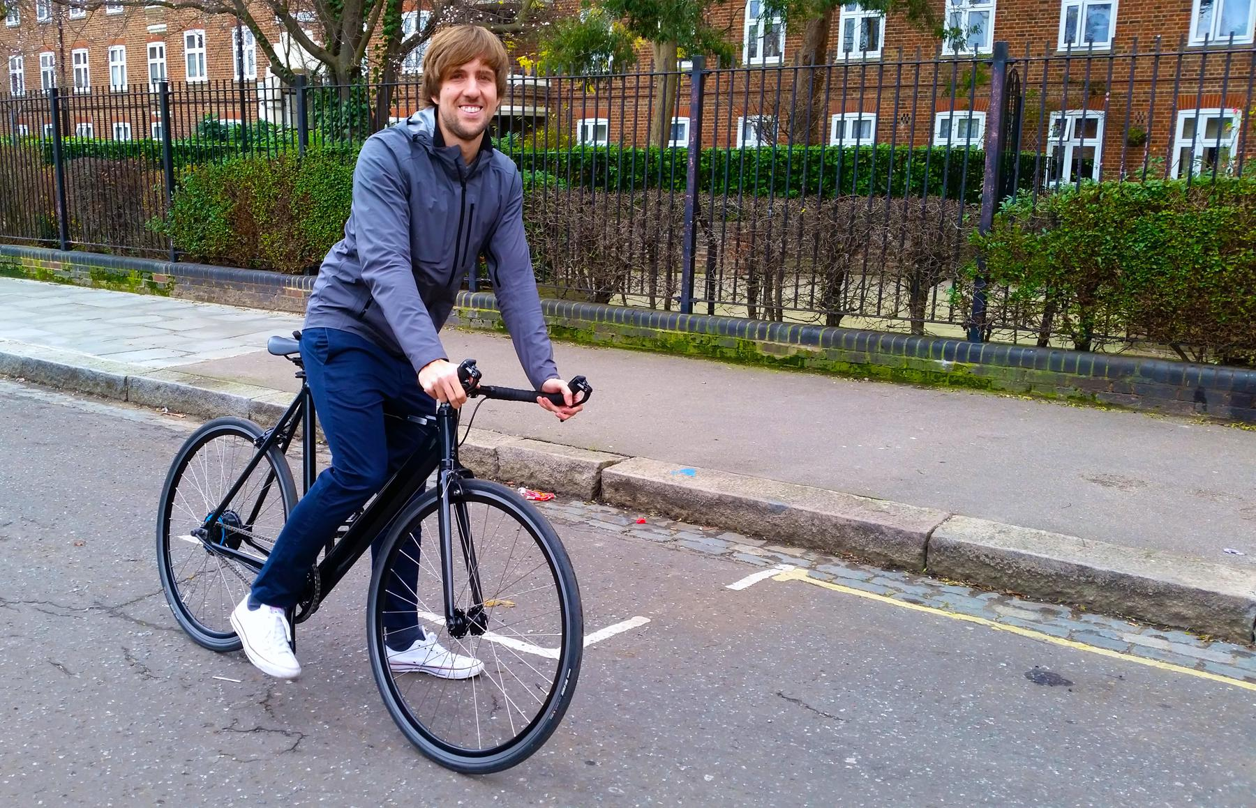 Andreas - the founder of the blog - sat on the Coboc in Kentish Town