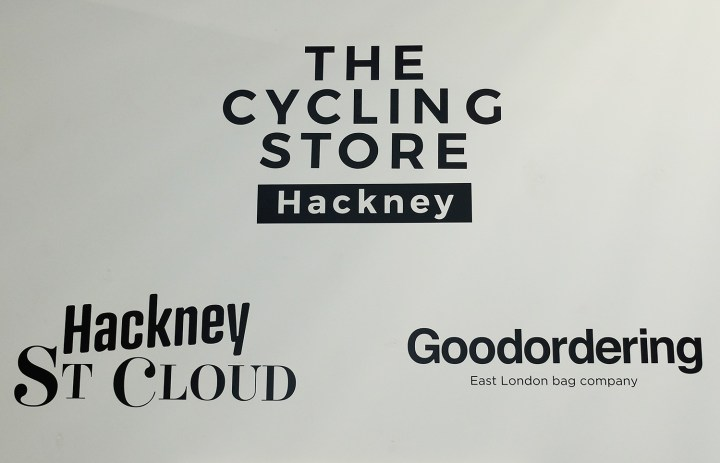 The cycling store signs