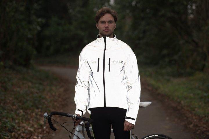 Man wearing Proviz 360+ cycling jacket