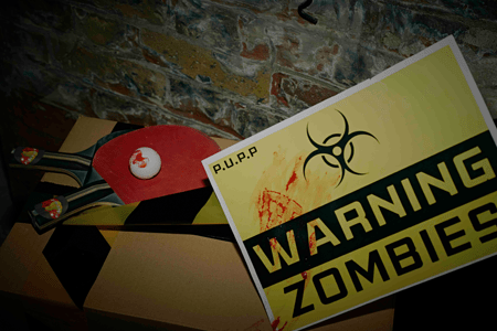 Pop Up Ping Pong Zombie Shelter