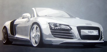 R8 Spyder V10 Commissioned Painting