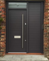 Contemporary Front Door with Sidelights - London Door Company