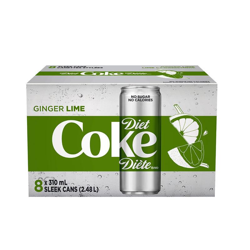 Diet Coke - Ginger Lime - 8 x 310ml | London Drugs