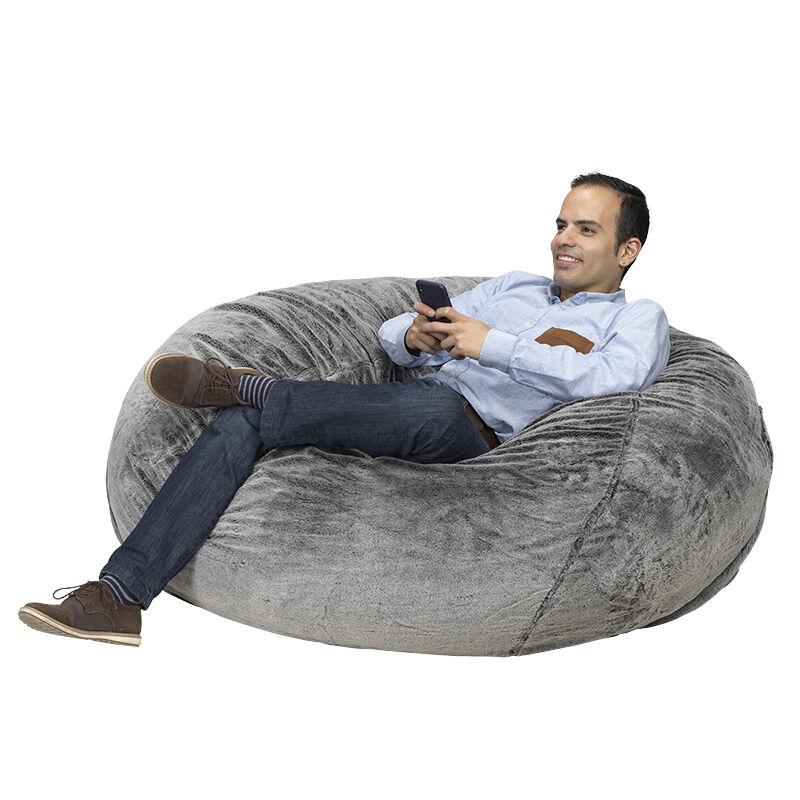 hanging chair edmonton best rocking chairs for nursery furniture london drugs giant foam bean bag grey