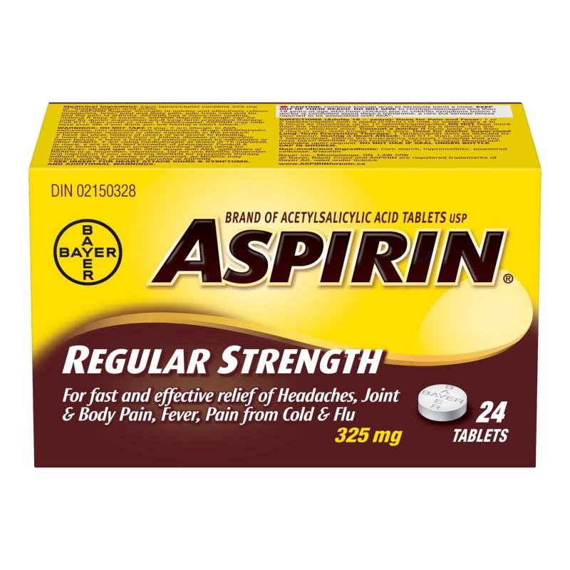 ASPIRIN 325mg tablets - 24's | London Drugs