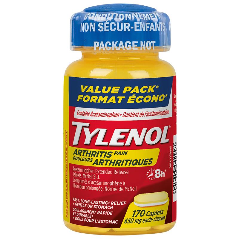 Tylenol* Arthritis Pain - 170 caplets   London Drugs