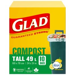 Glad Kitchen Bags Bay Window Biodegradable Tall 10 S London Drugs