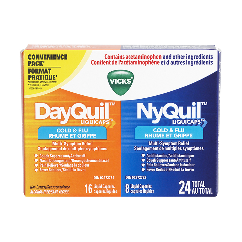 Vicks DayQuil & NyQuil Convenience Pack - 24's | London Drugs
