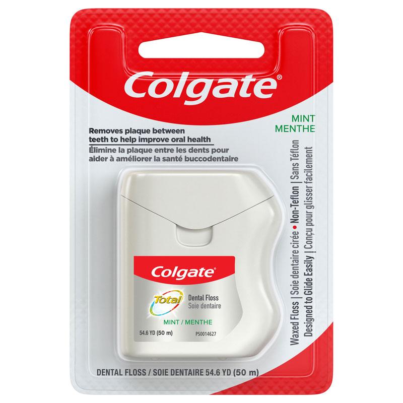 Colgate Total Mint Dental Floss - 50m | London Drugs