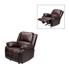 Rocker And Recliner Chair Black Leather Ottoman London Drugs Brown