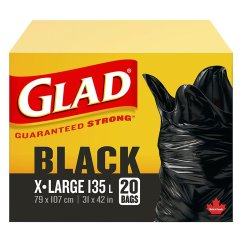 Glad Kitchen Bags Used Cabinets Chicago Easy Tie Extra Large 121l London Drugs
