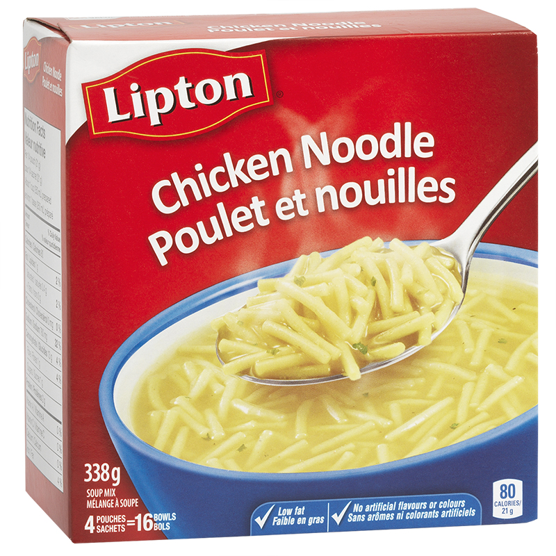Knorr Lipton Chicken Noodle Soup Mix - 4 pack/338g ...