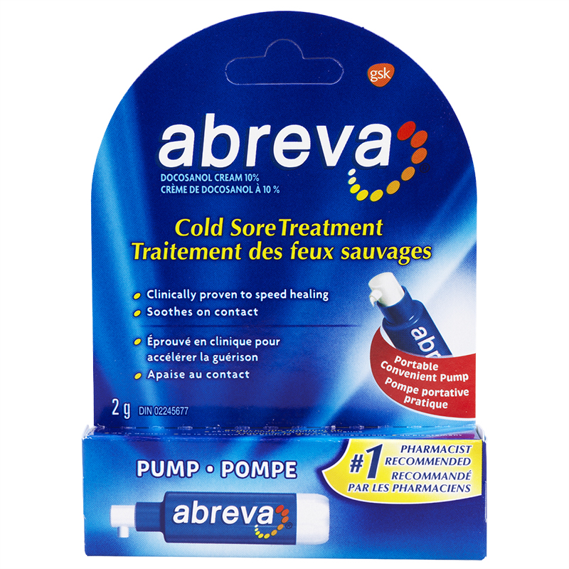 Abreva Cold Sore Treatment Pump - 2g | London Drugs